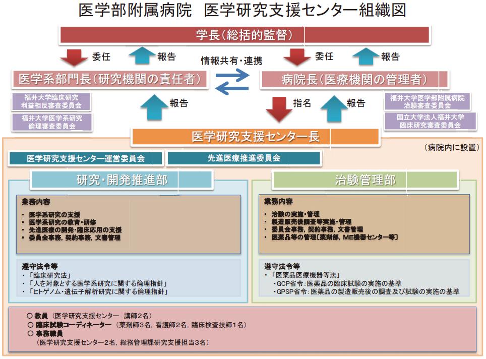 医学研究支援センター組織図
